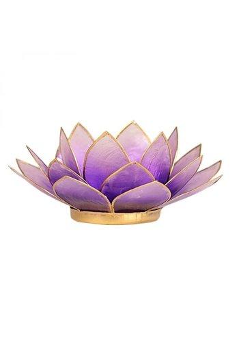 Yogi & Yogini naturals Lotus sfeerlicht violet goudrand (Ø 13.5 cm)
