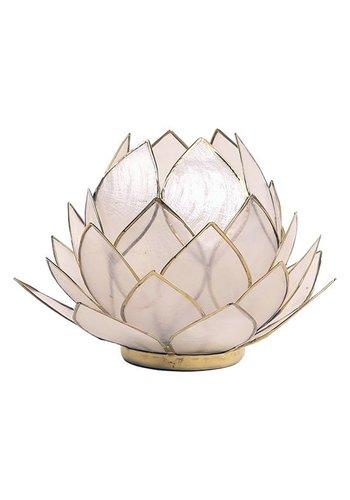 Yogi & Yogini naturals Lotus sfeerlicht naturel groot (15x15 cm)