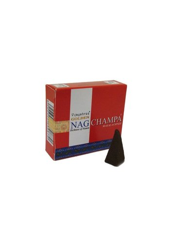 Yogi & Yogini naturals Wierookkegels Golden Nag Champa Masala (20 gram)