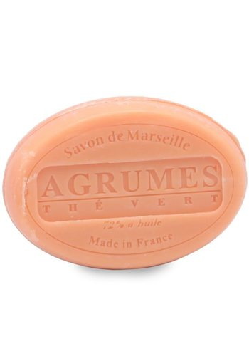 Le Chatelard 1802 Natuurlijke Marseille ovale zeep Citrus-Groene thee (100 gram)