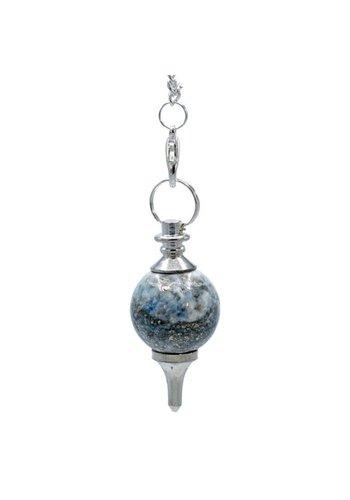 Yogi & Yogini naturals Pendel gepolijste Lapis Lazuli & metaal (3.5x1.7cm)