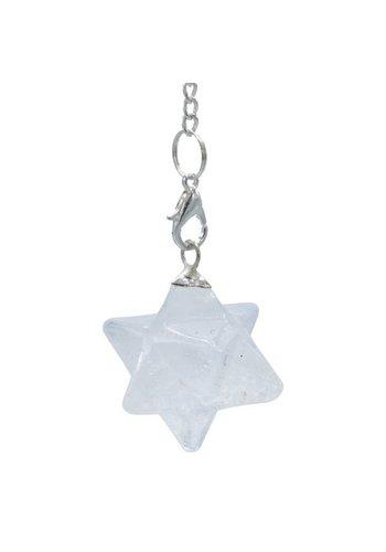 Yogi & Yogini naturals Bergkristal Merkaba chakra pendel achtpuntig (3 cm)