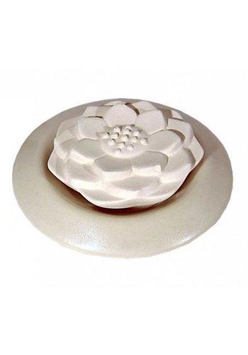 Yogi & Yogini naturals Lotus geursteen wit  (7 cm)