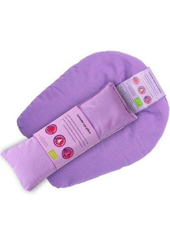Yogi & Yogini naturals Oog en nekkussen relax set lavendel violet