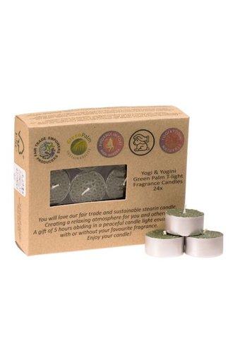 Greenpalm Fair Trade Theelichtjes stearine frankincensegeur (24-pack)