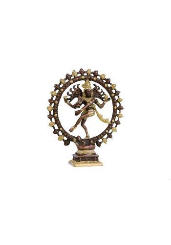 Yogi & Yogini naturals Shiva Nataraj messing 2-kleurig groter (27 cm)