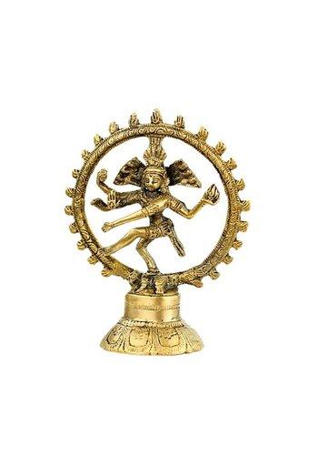 Yogi & Yogini naturals Shiva Nataraj messing 2-kleurig (15cm)