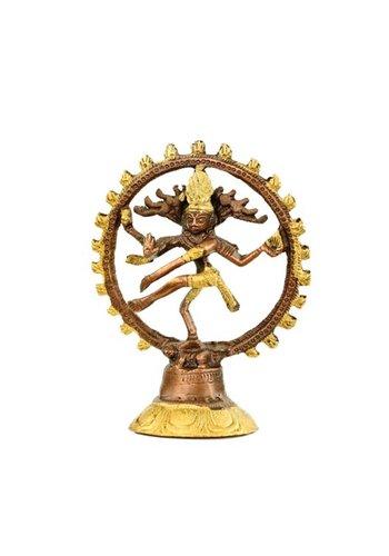 Yogi & Yogini naturals Shiva Nataraj messing 2-kleurig (10cm)