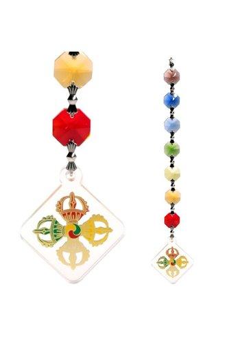 Yogi & Yogini naturals Feng Shui - Vajra bescherming decoratie hanger (20 cm)