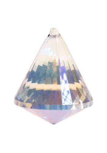 Yogi & Yogini naturals Regenboogkristal kegel parelmoer AAA kwaliteit (4,2x5,3cm)