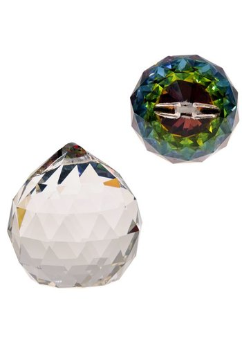 Yogi & Yogini naturals Regenboogkristal bol multicolor AAA kwaliteit (5 cm)