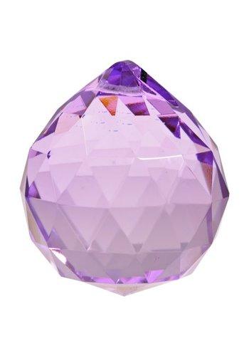 Yogi & Yogini naturals Regenboogkristal bol violet AAA kwaliteit (5 cm)
