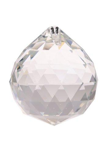 Yogi & Yogini naturals Regenboogkristal bol transp AAA kwaliteit grootst (5 cm)