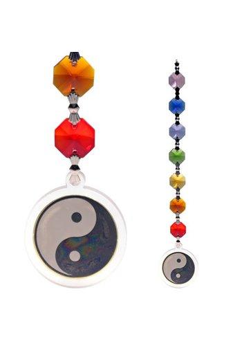 Yogi & Yogini naturals Feng Shui - Yin Yang decoratie hanger (20 cm)