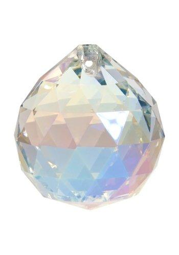Yogi & Yogini naturals Regenboogkristal bol parelmoer AAA kwaliteit (4 cm)