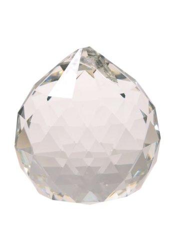 Yogi & Yogini naturals Regenboogkristal bol transparant AAA kwaliteit middel (3 cm)