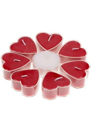 Greenpalm Hartvormige theelichtjes rozengeur