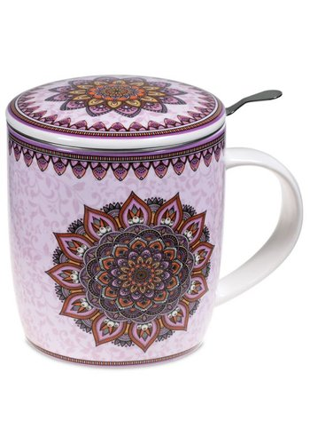 Tea for One Theemok met filter Mandala paars (400 ml)
