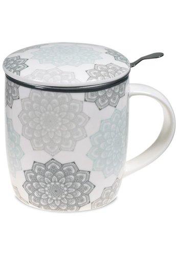 Tea for One Theemok set Mandala grijs