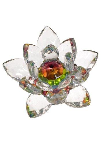 Yogi & Yogini naturals Kristal Lotus groot (9 cm)