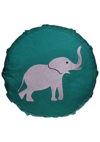 Yogi & Yogini naturals Meditatiekussen olifant voor kinderen (23x8cm)