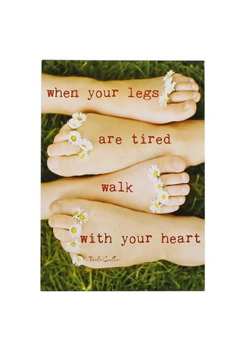 Yogi & Yogini naturals Ansichtkaarten: When your legs are tired.. (15x10.5 cm)