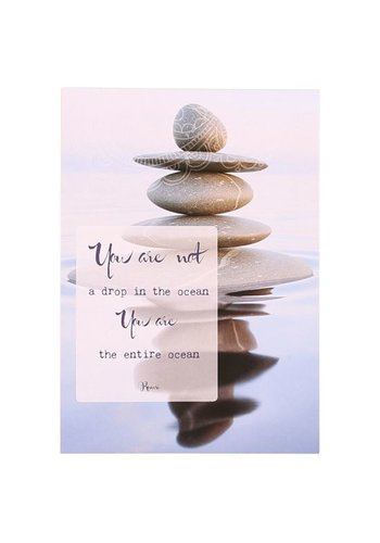 Yogi & Yogini naturals Ansichtkaarten: You are not a drop.. (15x10.5cm)