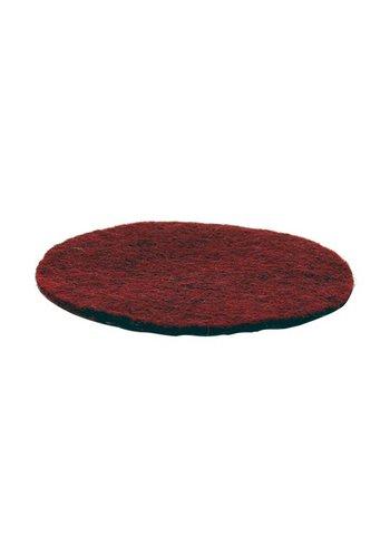 Yogi & Yogini naturals Vilten onderzetters roodbruin (10 cm)