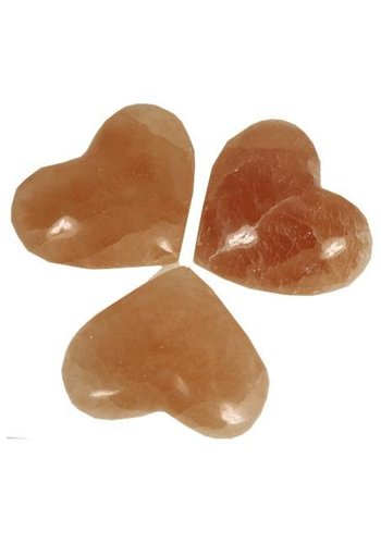 Yogi & Yogini naturals Hart knuffelstenen Seleniet oranje (±80x60 mm)