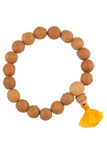 Yogi & Yogini naturals Mala Bodhiboom zaden licht 18 kralen (1.3 cm)