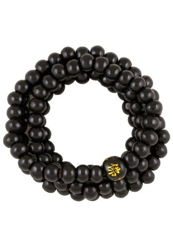 Yogi & Yogini naturals Mala/armband elastisch zwart (5 mm)