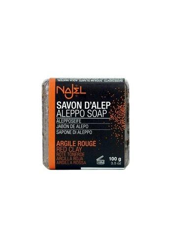 Najel Aleppo Aleppo zeep rode klei (100 gram)
