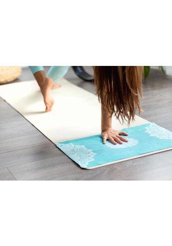 Yoga Tools Yoga handdoekje – Mandala Turquoise (38x61cm)