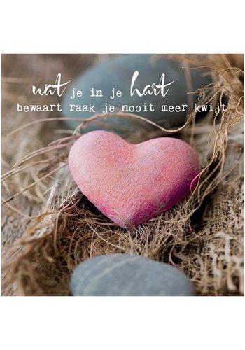 "Yogi & Yogini naturals Dubbele kaart ""Wat je in je hart bewaart..."" (14x14cm)"
