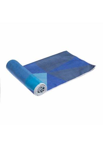 Yoga Tools Yogamat handdoek Geo Blue (182x61 cm)