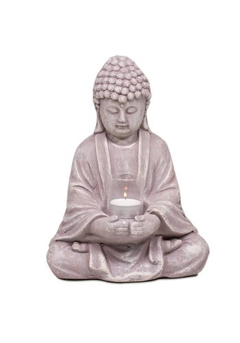 Yogi & Yogini naturals Boeddha met glaasje (28 cm)