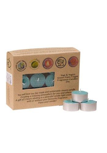 Greenpalm Fair Trade Theelichtjes stearine patchouli (24-pack)