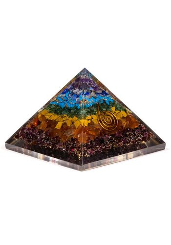 Yogi & Yogini naturals Orgon Piramide Zeven Chakra's (7.5x7.5x6 cm)