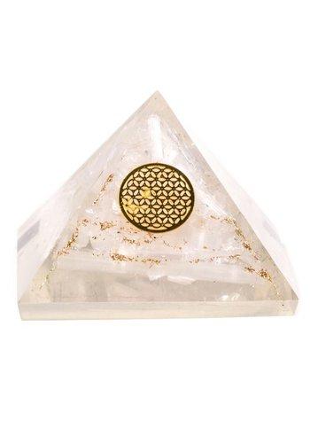 Yogi & Yogini naturals Orgon Piramide Seleniet Bloem des Levens (7.5x7.5x6 cm)