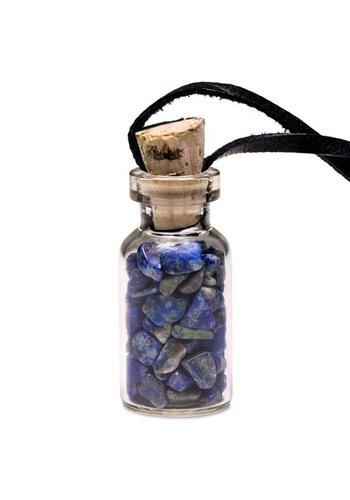 Yogi & Yogini naturals Geschenkflesje aan waxkoord met lapis lazuli (3.6 cm)