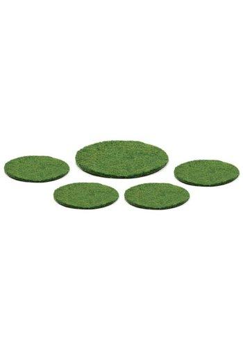 Yogi & Yogini naturals Vilten onderzetters groen (5-pack)