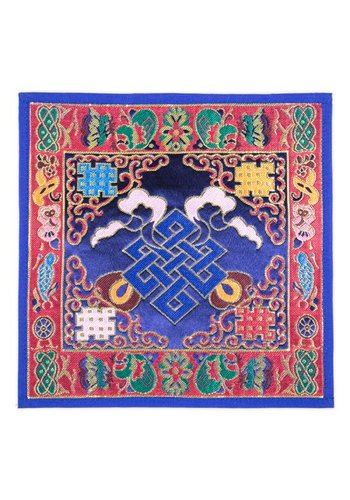Yogi & Yogini naturals Klankschaal/altaarkleed oneindige knoop brokaat (±25x25 cm)