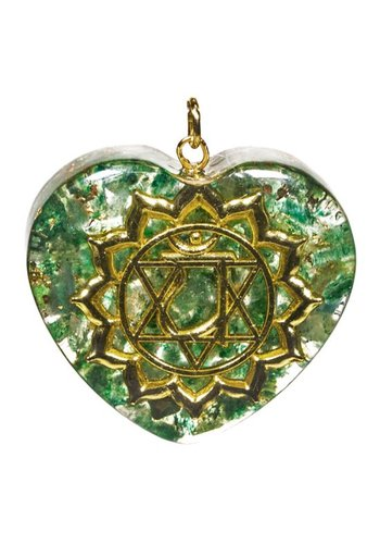 Yogi & Yogini naturals Orgon hanger vierde chakra hartvormig (4x4,2 cm)