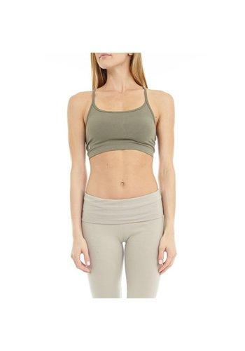 Yogi & Yogini naturals Yoga bra 'Ekam' stone (M)
