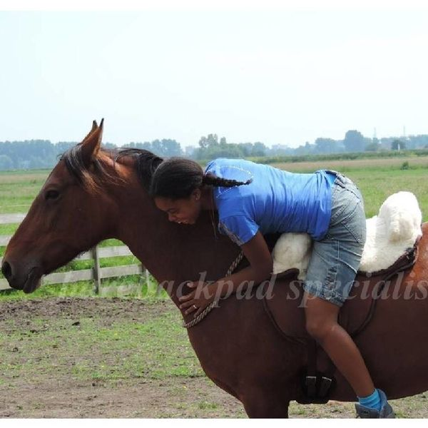 Barefoot Barefoot Ride on Pad schaapwol zitting barebackpad