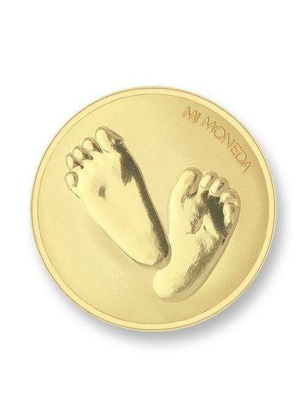 Mi Moneda Munt Baby Feet Gold