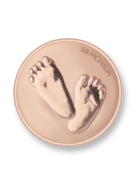 Mi Moneda Munt Baby Feet Rose
