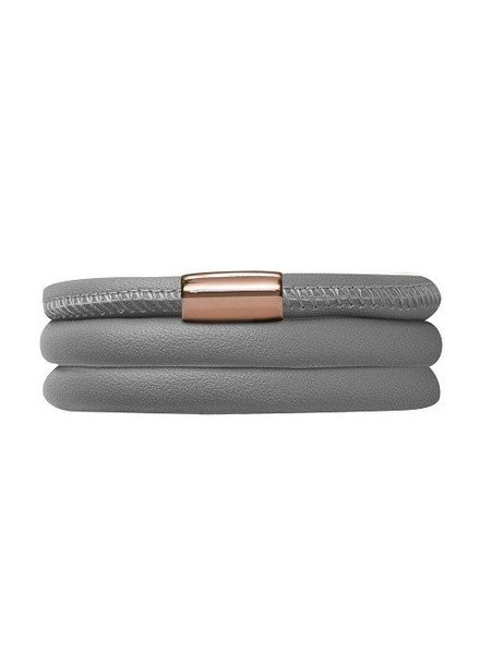 Endless Armband Grey Triple Rose Gold Plated
