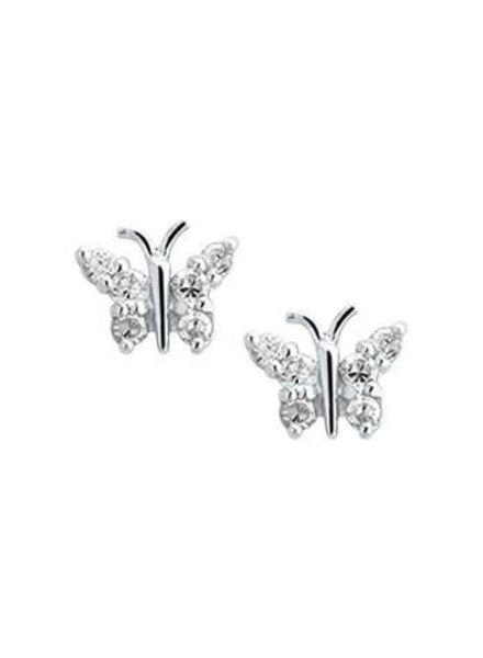 Tomylo Kinder oorknoppen vlinder met zirconia 233121