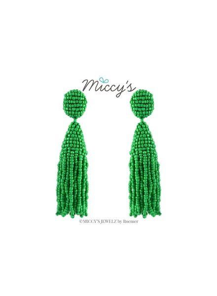 Miccy's Oorhanger Crystal, Green Short Tassel